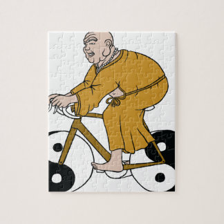 Buddha Riding A Bike With Yin Yang Wheels Puzzle