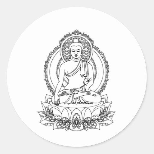 Buddha Round Stickers