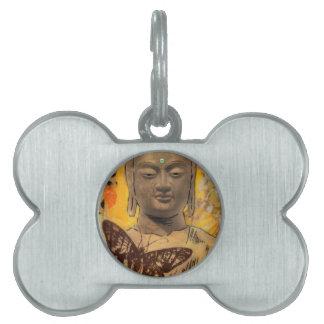 Buddha Rules Pet Name Tag