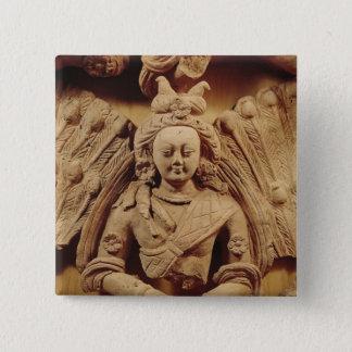 Buddha Sakyamuni, from Tumshuq  6th-7th century Pinback Button