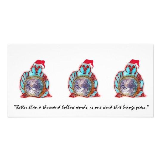 Buddha Santa Card