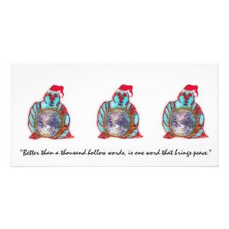 Buddha Santa Custom Photo Card