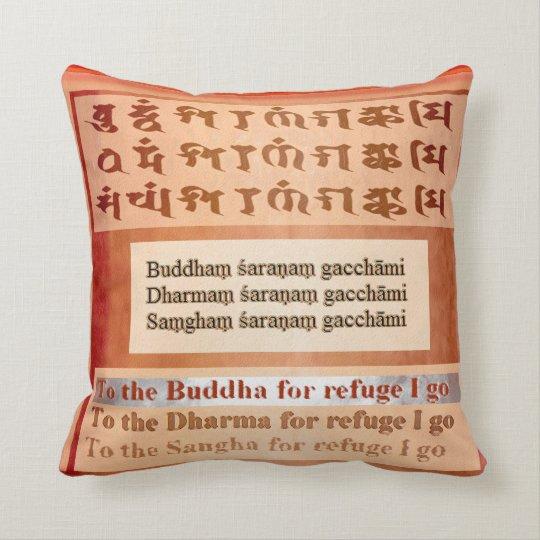 BUDDHA Saranam Gacchami Throw Pillow