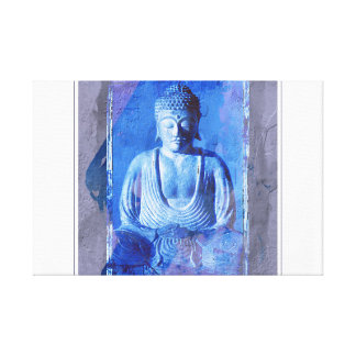 Buddha Seated Stretched Canvas Print