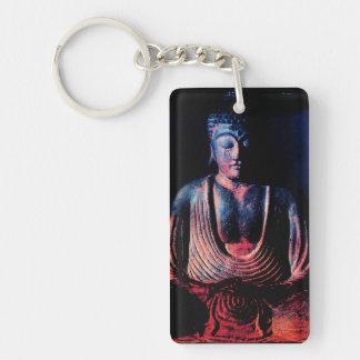 Buddha Seated Single-Sided Rectangular Acrylic Keychain