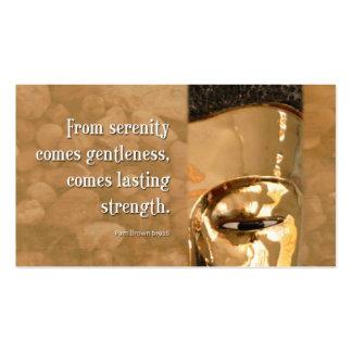 Buddha Serenity Gentleness Strength Business Card Template