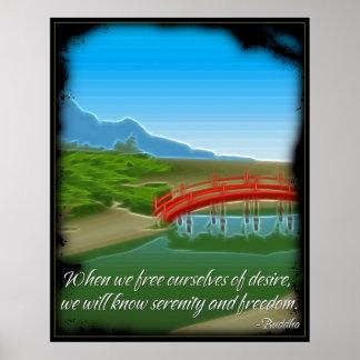 Buddha Serenity Quote Poster