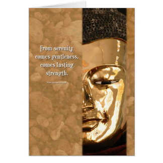 Buddha Serenity Strength Wisdom Inspiration Card Greeting Card