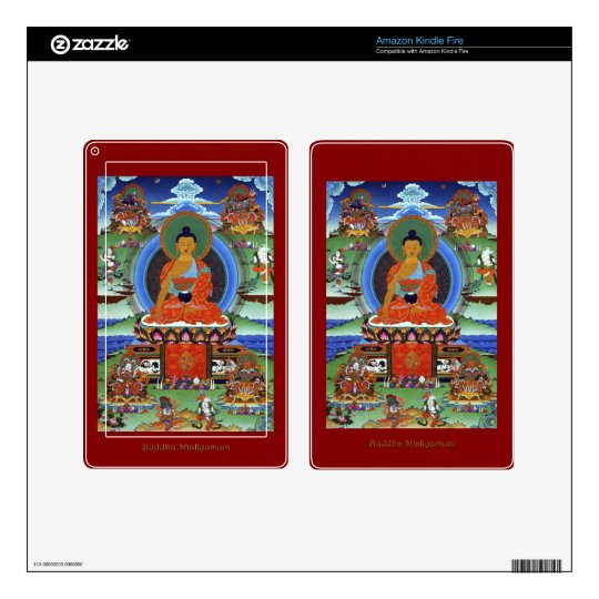 Buddha: Set of Buddhist Teachers on Device Skins Decal For Kindle Fire