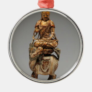 Buddha Shakyamuni with attendant bodhisattvas Metal Ornament