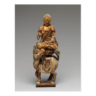 Buddha Shakyamuni with attendant bodhisattvas Postcard