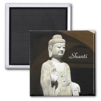 Buddha Shanti 2 Inch Square Magnet