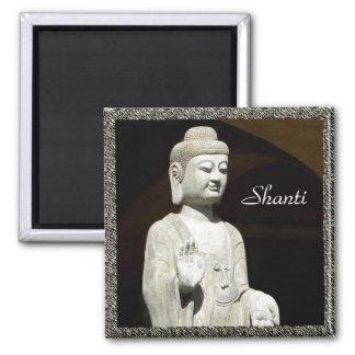Buddha Shanti, framed 2 Inch Square Magnet