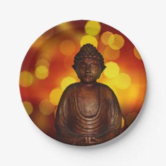 Buddha 7 Inch Paper Plate