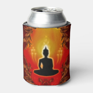 Buddha silhouette  in the sunset can cooler