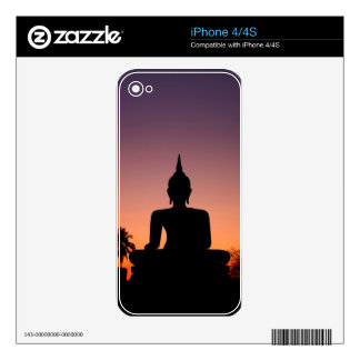 Buddha silhouette skin for the iPhone 4S