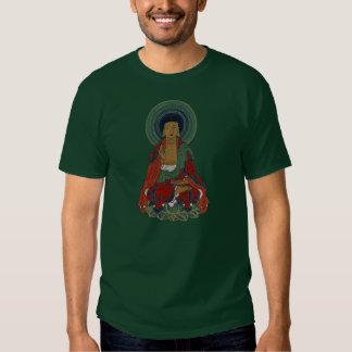 Buddha Sitting on Lotus Leaves Rich Color T-Shirt