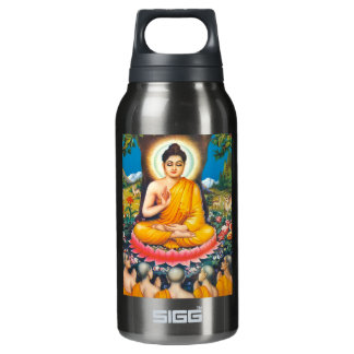 buddha sitting under the tree of inspiration 10 oz insulated SIGG thermos water bottle