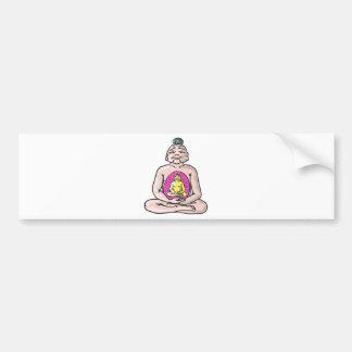 Buddha Sketch Vector Bumper Sticker