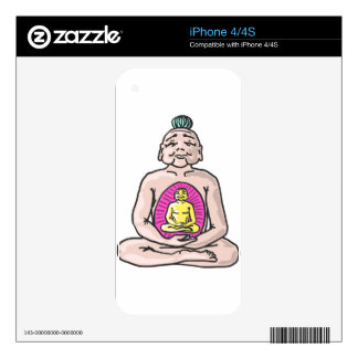 Buddha Sketch Vector iPhone 4S Decal