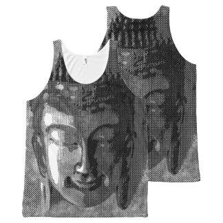 Buddha smile I - halftone black + your ideas All-Over Print Tank Top