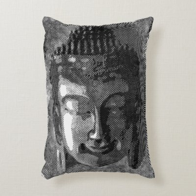 Gentle Buddha Face Stone Sculpture Decorative Pillow Zazzle Amazing Buddha Decorative Pillows