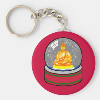 Buddha Snow Globe Keychain
