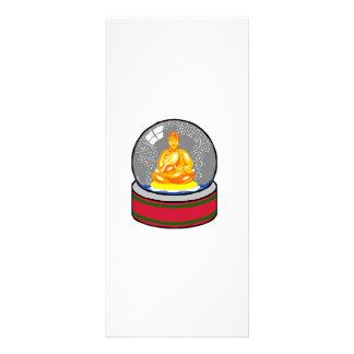 Buddha Snow Globe Rack Card