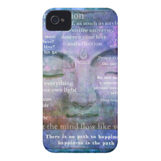 Buddha spiritual art with motivational quotes iPhone 4 cases