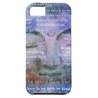 Buddha spiritual art with motivational quotes iPhone 5 cases