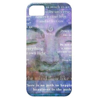 Buddha spiritual art with motivational quotes iPhone 5 cover