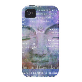 Buddha spiritual art with motivational quotes vibe iPhone 4 case