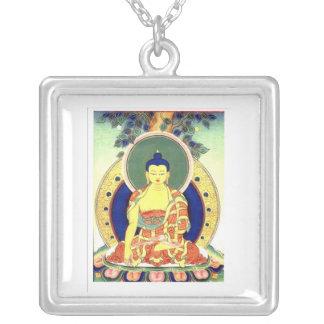 BUDDHA SQUARE PENDANT NECKLACE