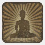 Buddha Square Sticker
