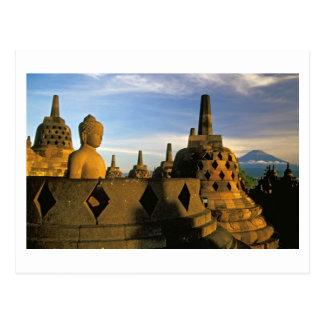 Buddha Statue and Stupas, Borobudur Temple Postcard