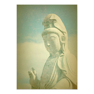 Buddha Statue Antiqued Personalized Announcements
