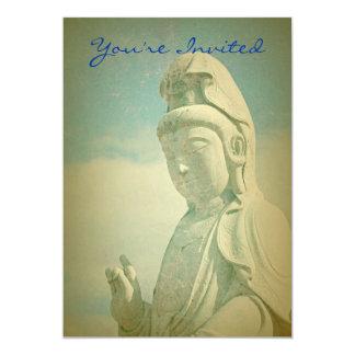 Buddha Statue Antiqued Invitations