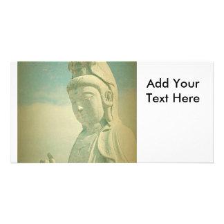 Buddha Statue Antiqued Picture Card