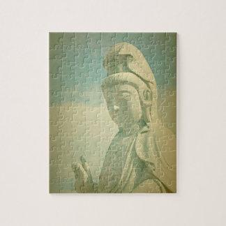 Buddha Statue Antiqued Jigsaw Puzzles