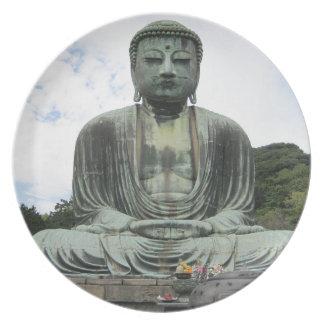 Buddha Statue Buddhism Melamine Plate