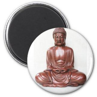 Buddha Statue - dark red, minimal Magnet