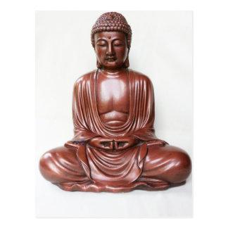 Buddha Statue - dark red, minimal Postcard