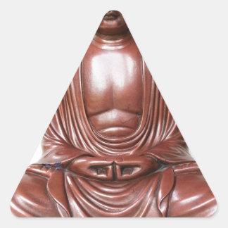 Buddha Statue - dark red, minimal Triangle Sticker
