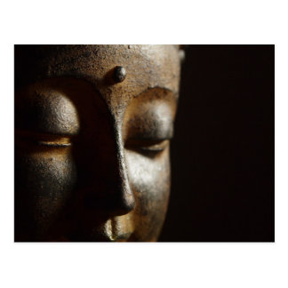 Buddha Statue Face Postcard