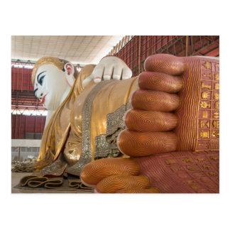 Buddha Statue Feet Postcard