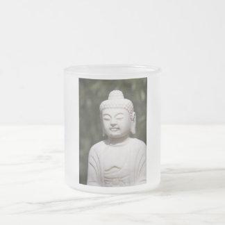 Buddha Statue Frosted Glass Coffee Mug