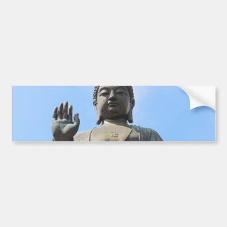 Buddha Statue in Blue Sky, Hand Raised Bumper Sticker