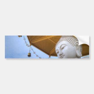 Buddha Statue in Blue Sky, Umbrella Bells Bumper Sticker