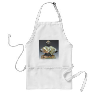 Buddha Statue in Clouded Robes 003.tif Adult Apron