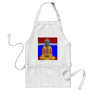 Buddha Statue in Gold by Sharles Adult Apron